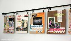 Great idea for hanging layouts!