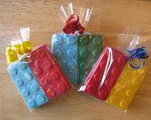 Chocolate Legos Party Favors