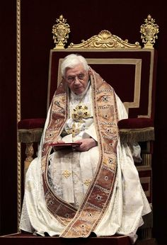 Pope Benedict XVI leads a Vespers mass at Saint Peter's Basilica at the Vatican February 2, 2012.