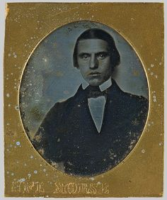 Samuel F. B. Morse / Portrait of a Young Man / 1840 / Daguerreotype.  Painter turned inventor.  Co-developer of the Morse code.
