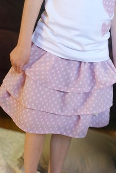 Simple ruffle skirt