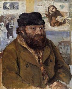 portrait-of-paul-cezanne-1874-Pissarro Portrait of Paul Cezanne – Camille Pissaro – 1874