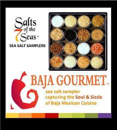 Baja Gourmet Sea Salt Sampler Capturing the Soul & Sizzle of the Baja Mexican Cuisine - THE MOST FUN YOU CAN HAVE PLAYING WITH YOUR FOOD! Enjoy 16 new, all natural sea salts, many available in our larger Origins and Infusions Collections found here on Amazon.  These sultry salts capture ... - Spices Gifts - Grocery$17.99