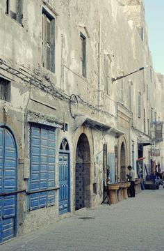 Essaouira, vieux village bleu & blanc. Maroc
