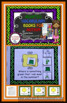 Adapted Interactive Books for Teaching Vocabulary by Autism Classroom News. Repinned by SOS Inc. Resources pinterest.com/sostherapy/.