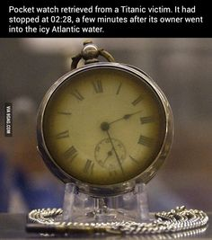Pocket watch retrieved from a Titanic victim.