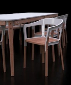 Steelwood Table and Chair - Ronan & Erwan Bouroullec.  Wonderful details,