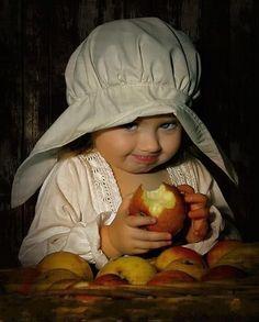 peopl, little girls, one word, children, babi, apples, ador, eye, kid