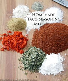 Homemade Taco Seasoning Mix - Must try!!  GF too