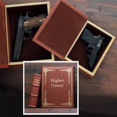 Secret Compartment Hollow Book Gun Safes