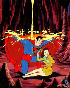 Supes saves Lois.