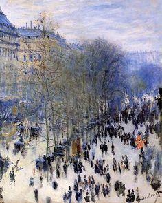Boulevard Capucines. Claude Monet.