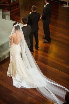 Wedding Gown by Pnina Tornai | Photography: Dave & Charlotte Lifestyle Photography - daveandcharlotte.com.au | On: http://www.StyleMePretty.com/australia-weddings/2014/03/21/traditional-perth-wedding-2/