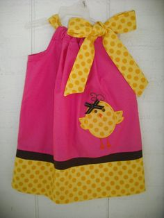 Easter Chick Pillowcase Dress by MyDaughtersShop on Etsy, $28.00
