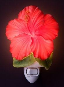 Ibis & Orchid Red Hibiscus Night Light