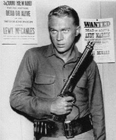 Old TV Series Westerns Steve McQueen  in Wanted dead or alive