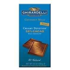 Gourmet Milk 32% Cacao Creamy Devotion Bar (Ghirardelli - 4% donation)