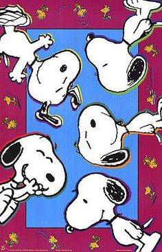 SNOOPY & WOODSTOCK~Snoopy all around