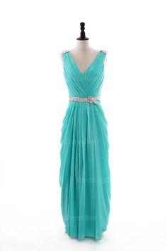 Sexy V-neck chiffon floor-length dress