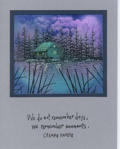 Cabin at the lake by billiekins - Cards and Paper Crafts at Splitcoaststampers