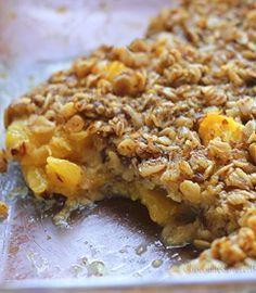 HEALTHY Breakfast Baked Oatmeal. It's like eating dessert for breakfast! http://chocolatecoveredkatie.com/2013/05/15/sunshine-breakfast-baked-oatmeal-recipe/