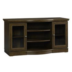 """Traditional Cherry TV Media Stand with Storage - Fits up to 47"""" TV"""