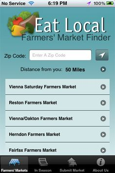 Eat Local #App: Find Local Farmer's Markets