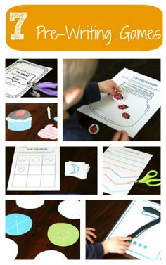 7 printable games that strengthen hand-eye coordination, fine motor skills and hand strength. {Playdough to Plato}