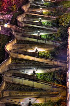 Winding sidewalk in Chattanooga, Tennessee- home.