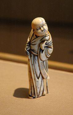 Japanese netsuke: blind-man-netsuke from the Netsuke Room of the Japanese Pavilion