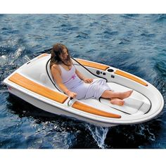 """Forever alone. """"The One-Person Electric Watercraft - Hammacher Schlemmer. For when you just need to escape."""""""