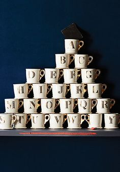 Monogrammed mugs / Great gift for $10