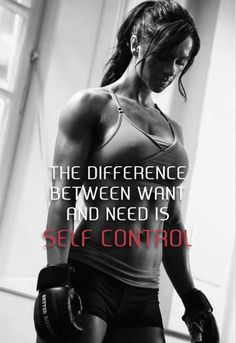 I now know that my life is dictated by what I do and the need and want to be healthier and happier, so I can have more self control over ME! <3
