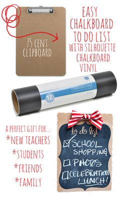 Easy Chalkboard to do list with Silhouette Vinyl from Whipperberry