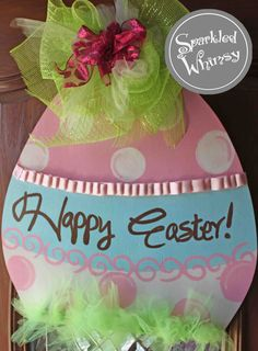 Easter Egg Door Hanger Sign