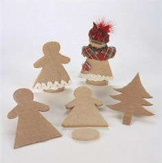 """Gingerbread houses are fun but try little """"Gingerbread Ladies""""!"""