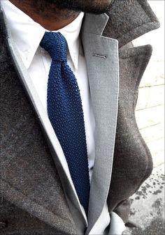 Nice textured tie. #fashion
