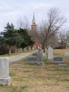 Saint Martins Catholic Cemetery  Piqua  Woodson County  Kansas  USA