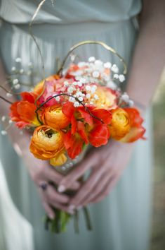 Gorgeous bouquet by Nicole Mora of Seed to Fruit, photo by Richard Israel | via junebug weddings