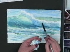 Techniques for Painting Ocean Waves in Watercolor with Susie Short ocean paintings, how to paint watercolor ocean, painting ocean waves, painting art, how to paint waves, ocean watercolor painting, watercolor video, paint ocean, watercolor tutorials