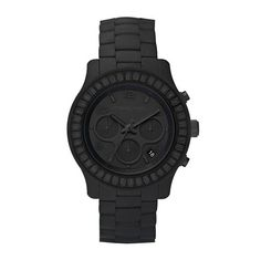 justthedesign:  Michael Kors Black Womens Watch   More Minimal Modern Fashion here.