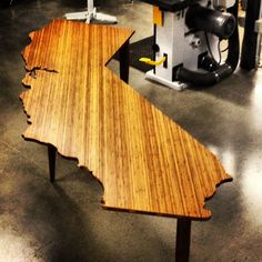 Plyboo California Desk #furniture #woodworking #water_jet #state