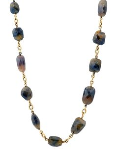 Sylva & Cie 18k Yellow Gold Natural Sapphire Necklace at London Jewelers!