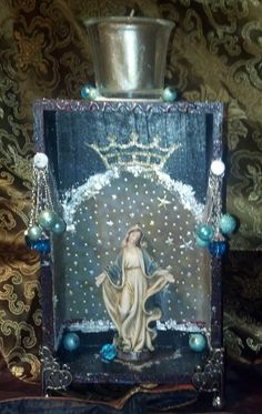 Custom made personal shrine by Swansister  at Etsy