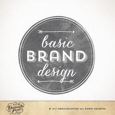 Custom Brand Identity Package / Custom Hand Drawn Logo Design, Business Card, Watermark Ooak Logo Design, Arrows Logo, Hand Drawn Logos, Font, Logo Watermark, Logo Round, Logo Hand, Custom Hand, 25 Years Logo