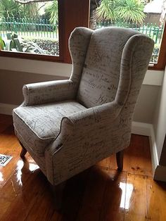 Revenge Armchair French Wing Back Chair Furniture TV Series NEW | eBay