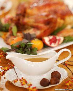 Riesling Gravy - Martha Stewart Recipes - Best Thanksgiving Gravy