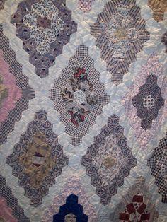 """AUNTIE'S QUAINT QUILTS: Antique Australian Quilts.  1850.  1/2"""" hexagons"""