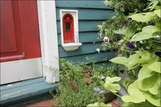 The fairy door at Red Shoes, one of eight created in Ann Arbor, Michigan by Jonathan Wright.