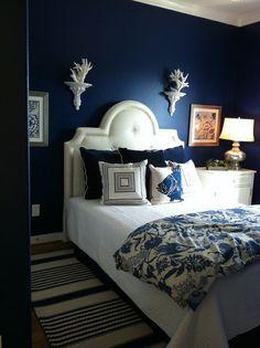 dark blue walls